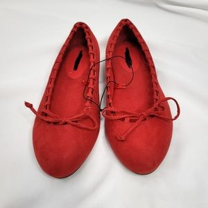 Torrid Whip Stitch Flats Red Size 8 Wide